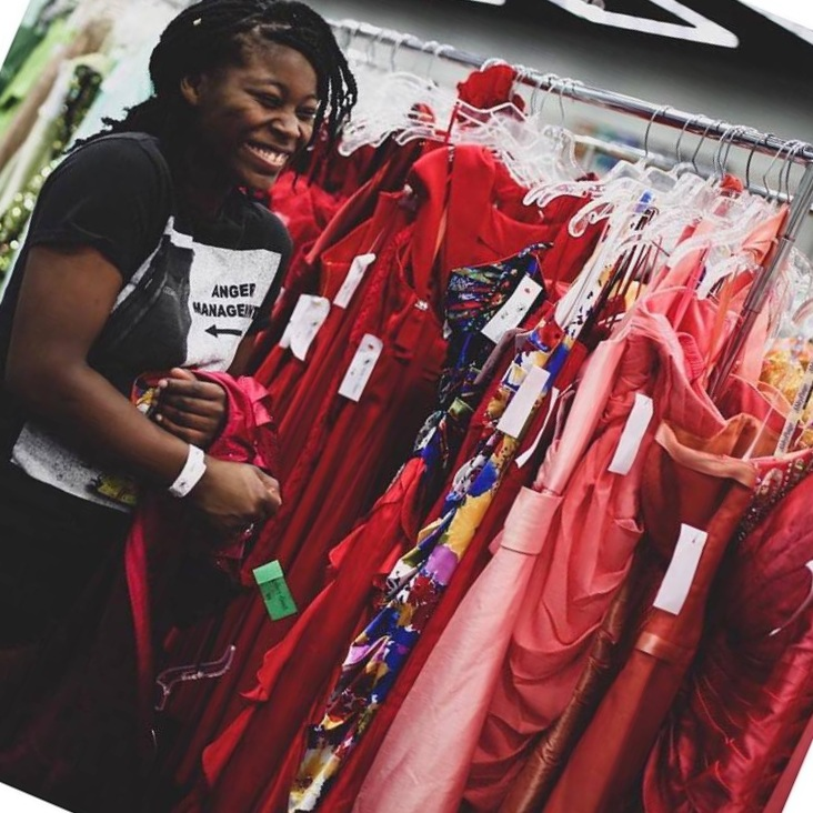 - Donate a dress or prom accessories