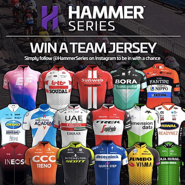 It's time for a prize draw! 🎉  To celebrate that #HammerSeries returns this month, we are giving all our Instagram followers a chance to win a team jersey from their favorite Hammer team!  Check our website for additional info. Link in bio.  #HammerSeries #HammerStavanger #HammerLimburg #HammerHongKong #procycling #cycling #cycle #bikelife #bicycle #bike #roadbike #ciclismo #cyclinglife #cyclist #velo #ride #motivation #life #love #fitness #fun #instagood