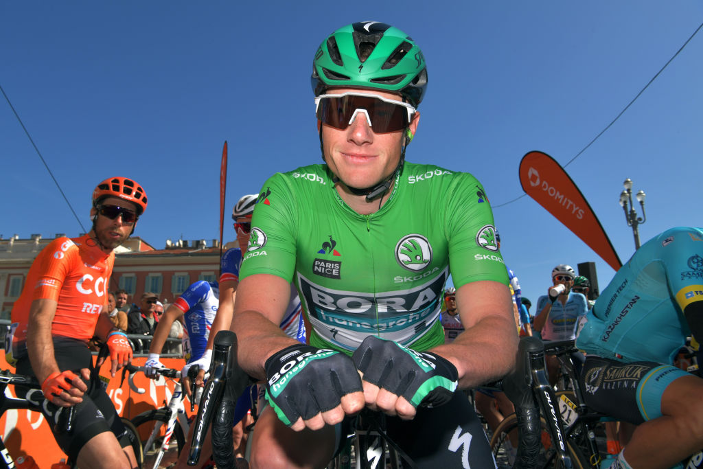 Sporting the green points jersey at Paris-Nice (Getty Images)
