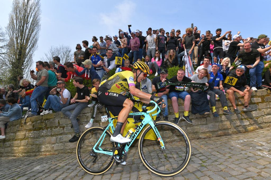 Fighting up the Muur van Geraardsbergen at the Tour of Flanders in April (Getty Images)