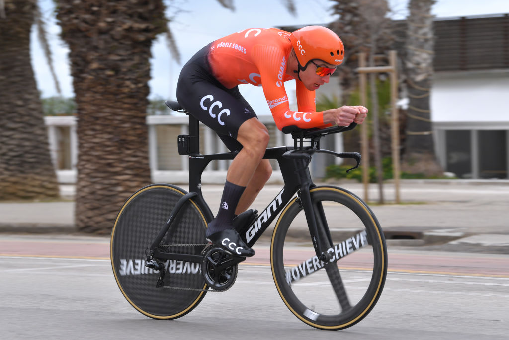 Riding an individual time trial in San Benedetto del Tronto on Tirreno-Adriatico Stage 7 (Getty Images)