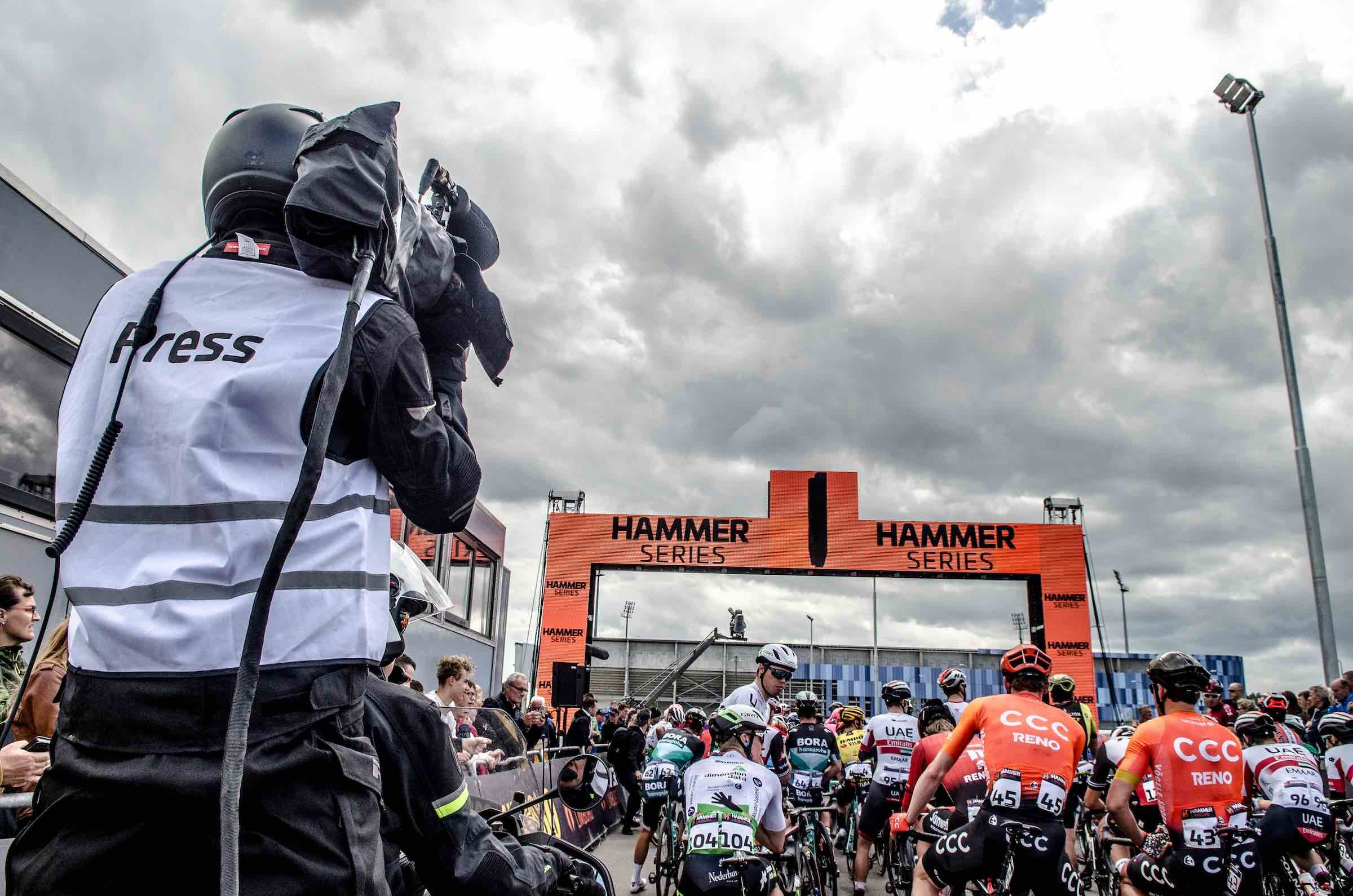 Teams line up at the start in Hammer Limburg this year