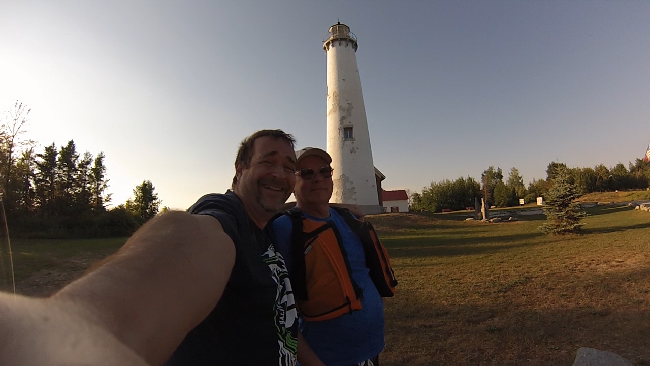 Ric Mixter and Wes Oleszewski at Tawas Point Lighthouse