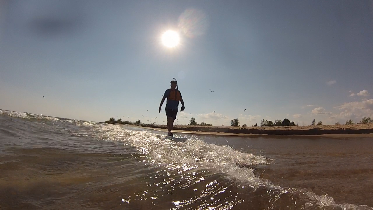 Wes walks Tawas Beach in search of shipwrecks