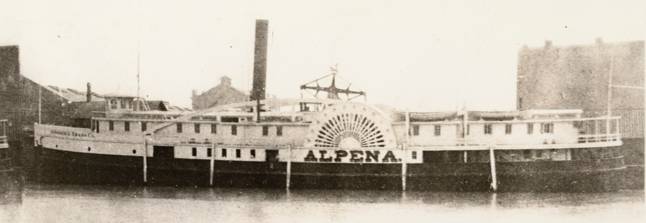 James Larsen saved an entire crew in the storm that took  Alpena  and over 100 lives.