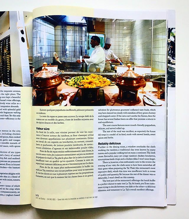 """Reliably Delicious"" 💪🏼😍 as reviewed by @tastet.ca #Montreal #LeTaj #BestIndian #Delicious"