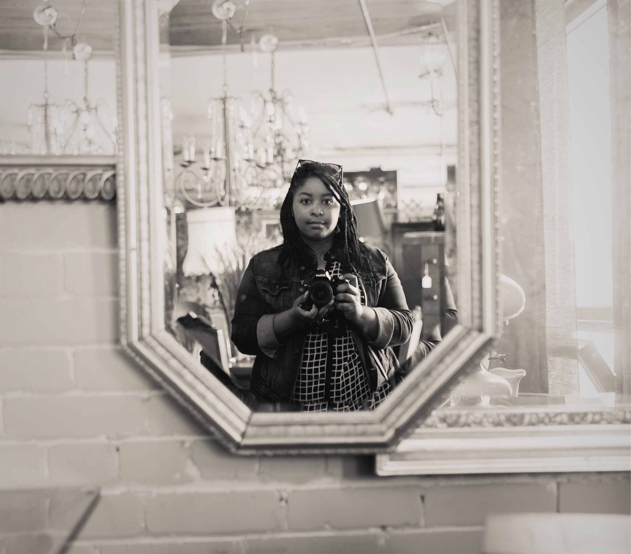 Me, creeping around one of my favorite Detroit spots—Eastern Market Antiques ;)