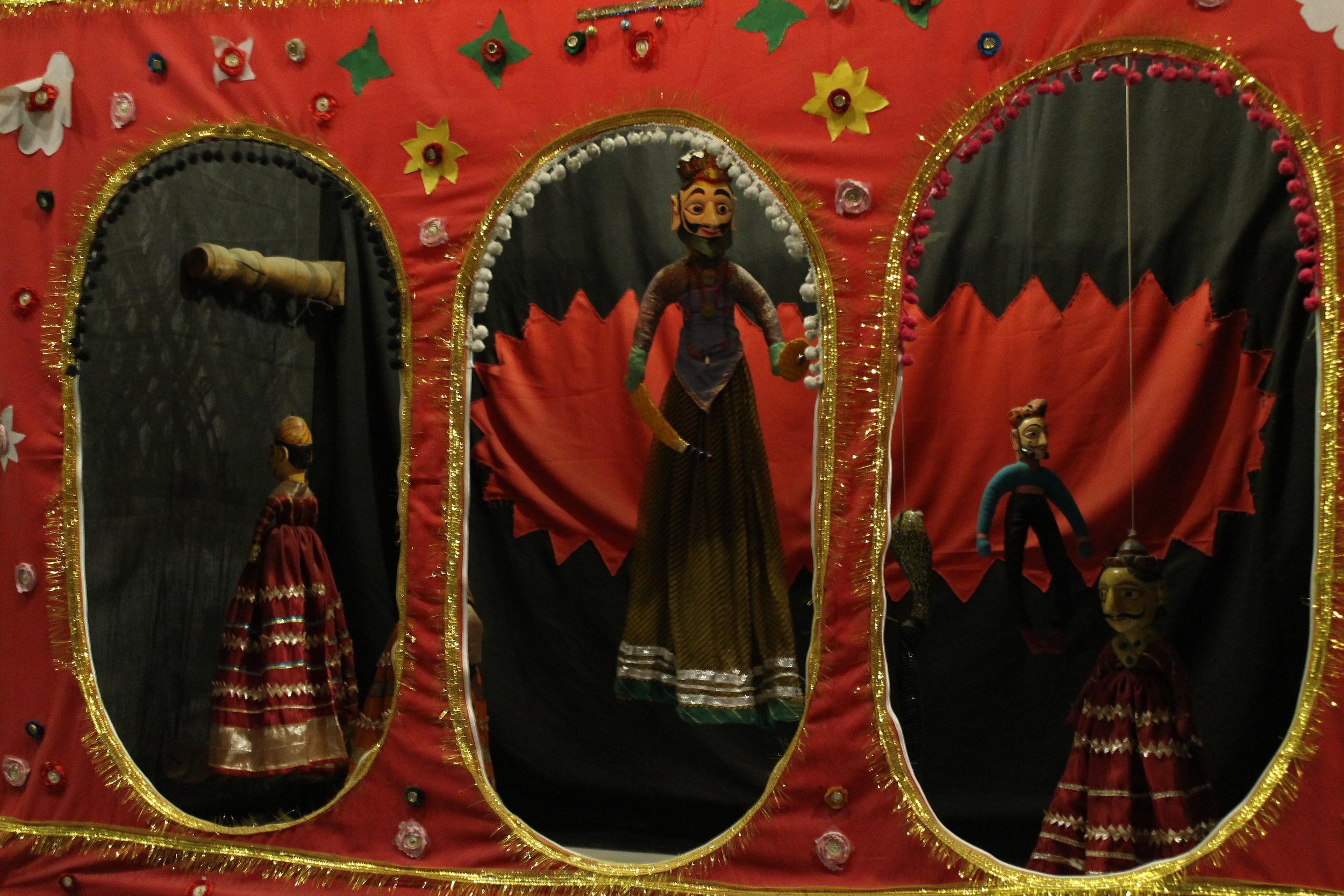 Folk puppetry exhibit at the Lok Virsa Museum