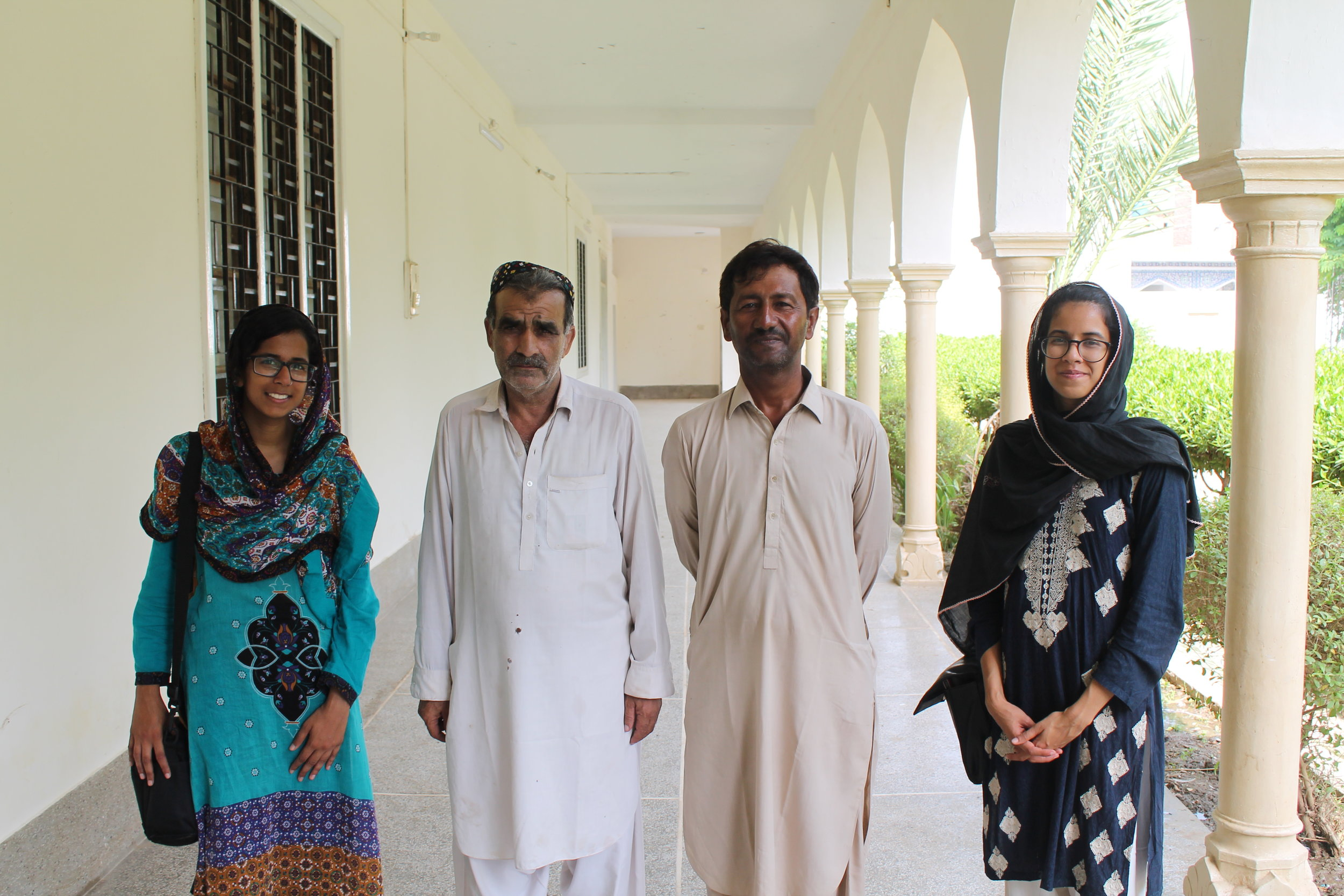 Meeting with Ismail (right) and Mohammad Kamal Kori (left) at the Bhit Shah Museum (Photo by Kayhan Qaiser)
