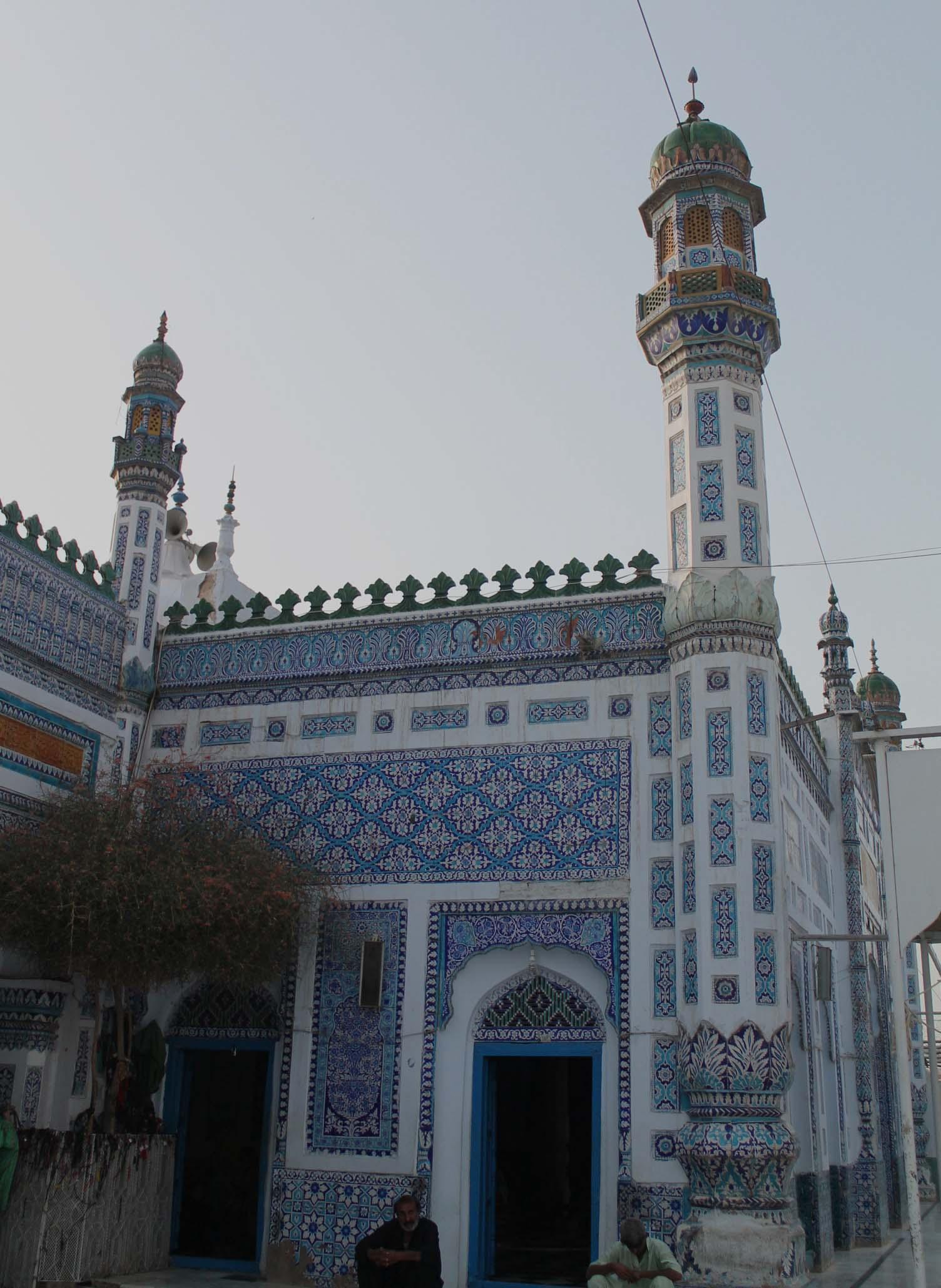 Inside the shrine of Shah Abdul Latif Bhittai
