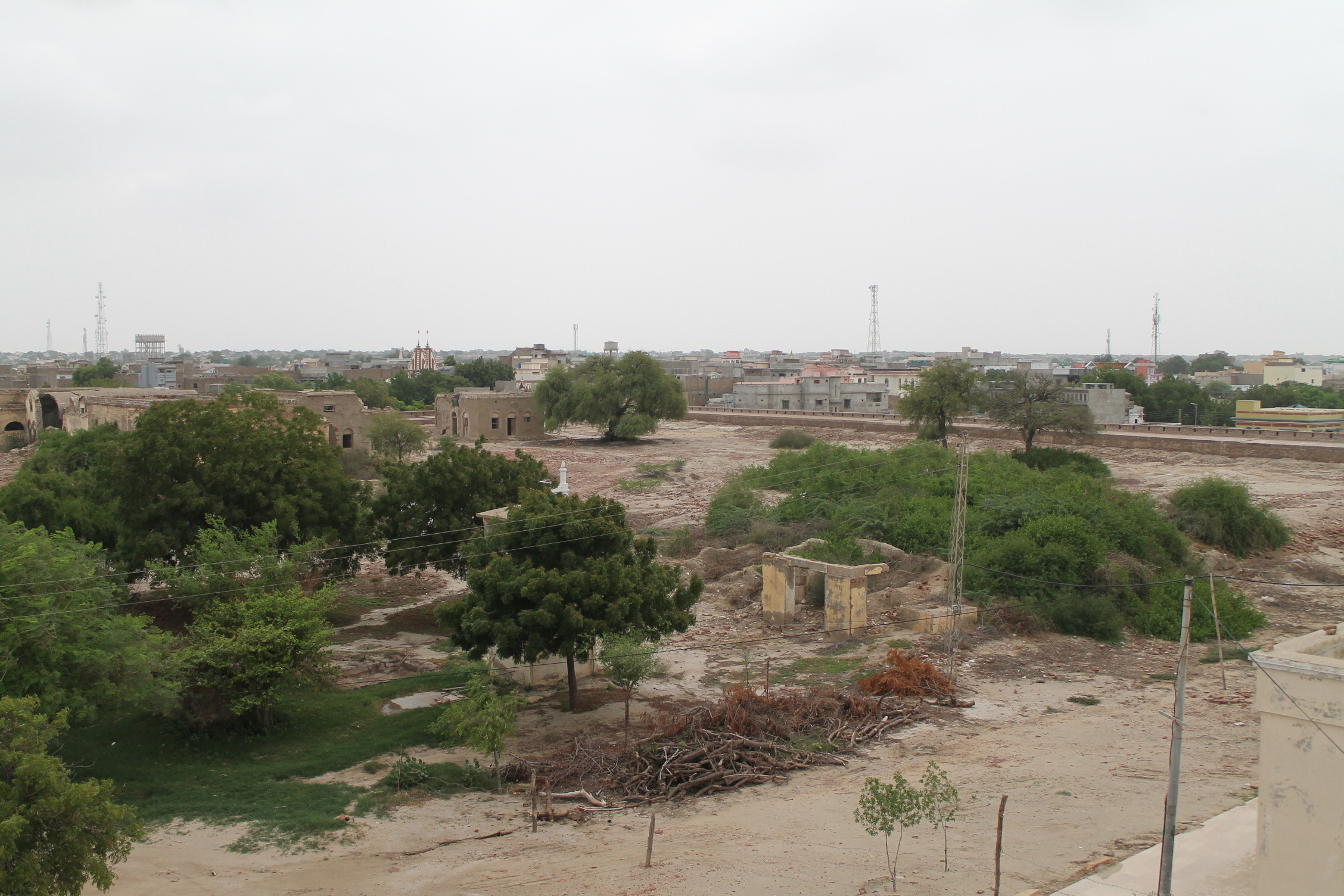 View of Umerkot from the top of Umerkot Fort