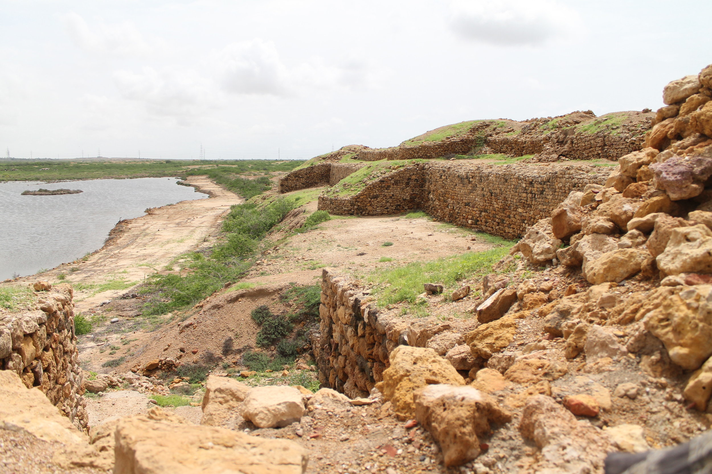 View of the archaeological site of Bhambhore, where Sasui grew up