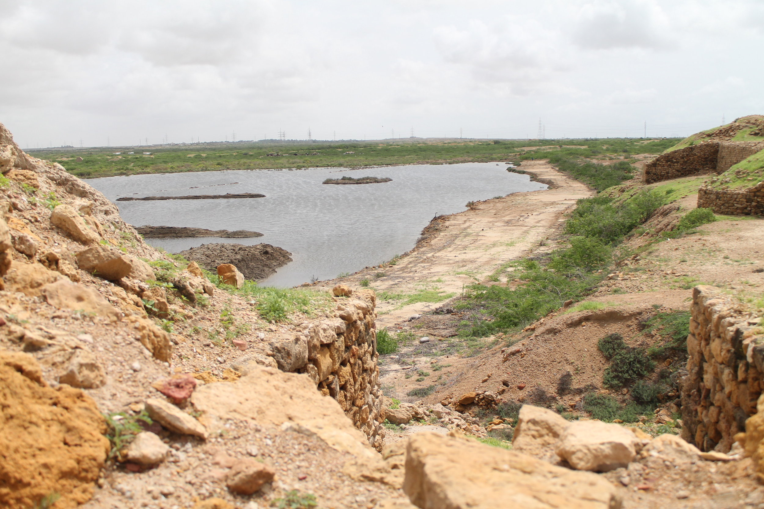 View of the River Indus (Sindh River), where Sasui floated down in a wooden box and ended up in Bhambhore