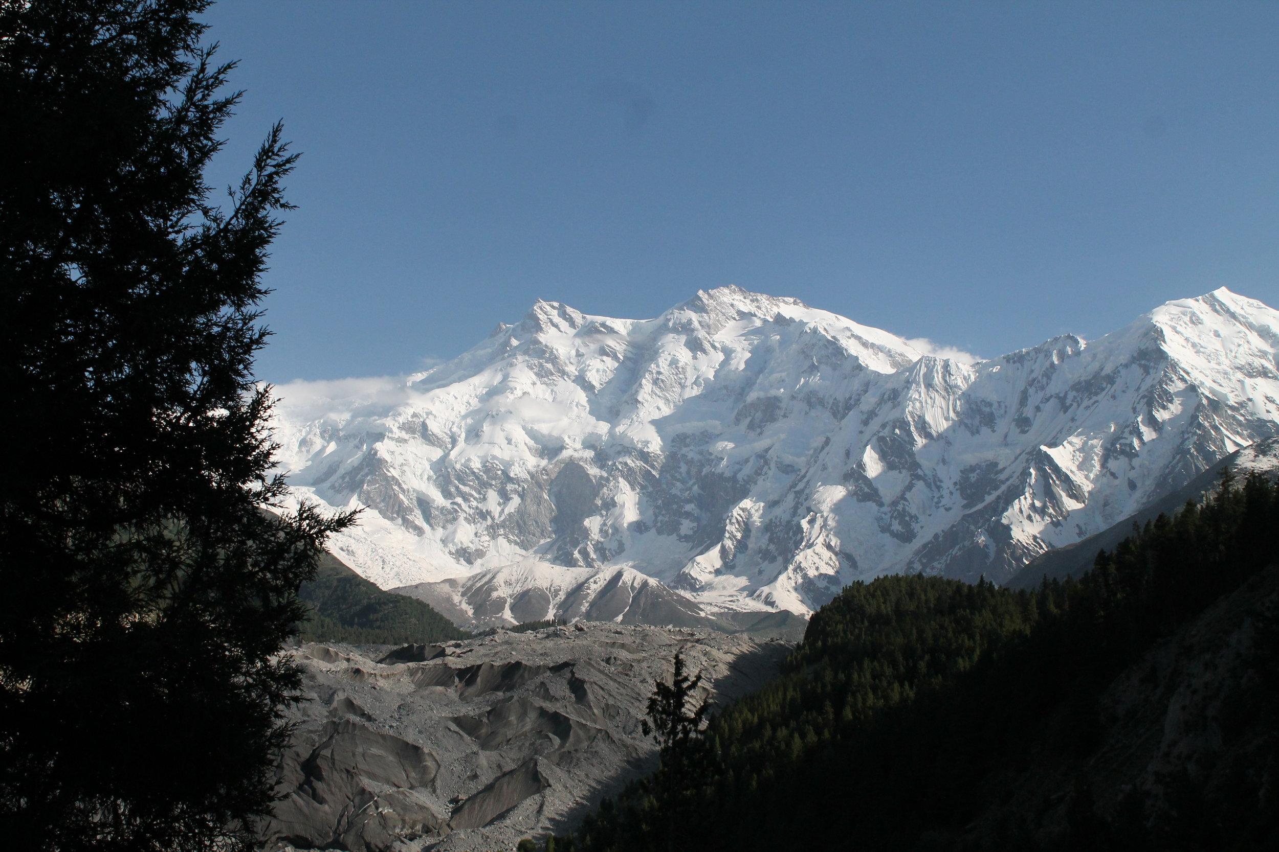 The daunting white peak of Nanga Parbat