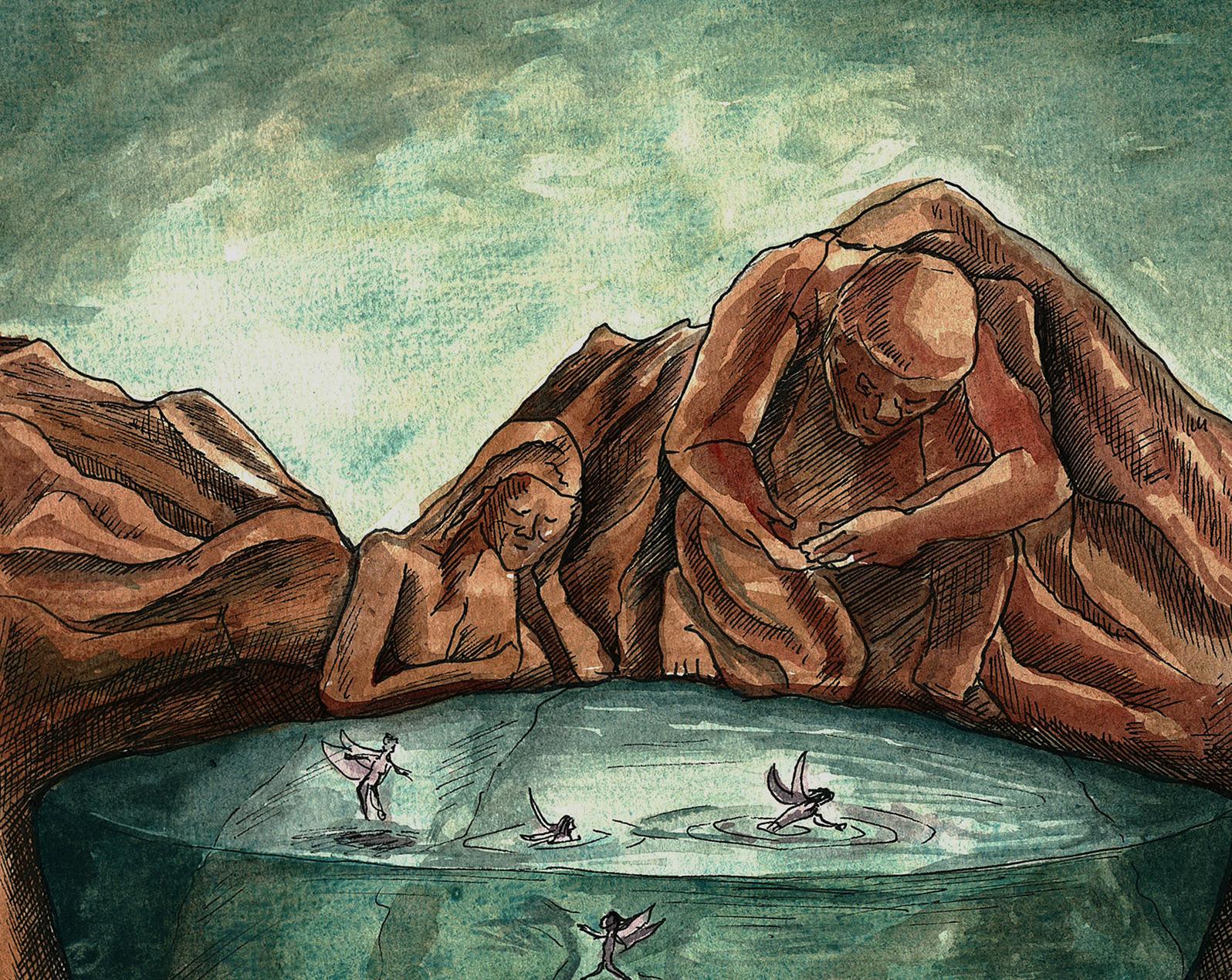Interpretation of the Story of Saif-ul-Malook (Painting by Nimra Bandukwala)