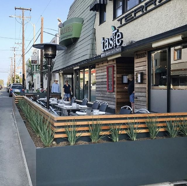 The wait is over! You can now experience your favorite sandwich & sides or next dinner at @TasteLB on our brand new, outdoor parklet. Stop by, grab a seat and enjoy the beautiful Fall weather while it lasts.