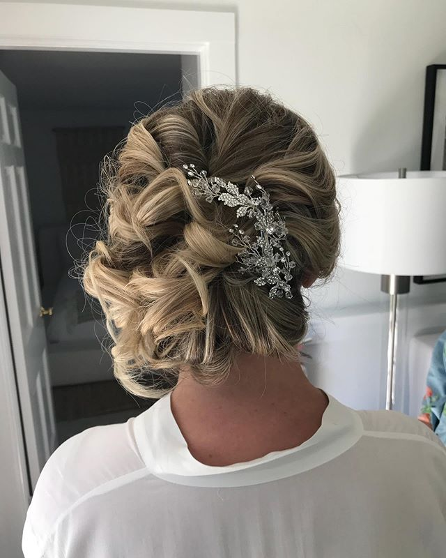 #weddinghair what a fun wedding party this was! So much beautiful hair!! #saloninthemills #updo #capecodweddings