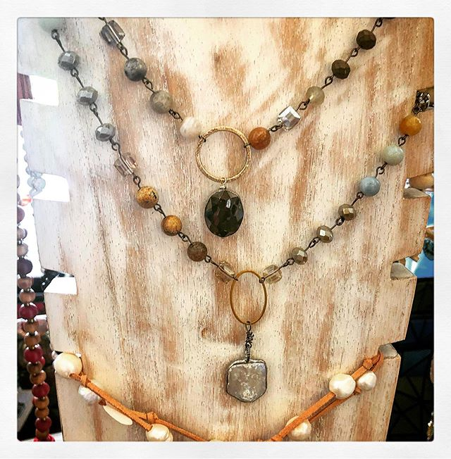 Boho Chic Necklaces!! #fashion #palmproduce #fashionista #miami #clothes #style #resortwear #bathingsuits #bikini #color #pinecrest #swimwear #clothes #keybiscayne #westpalmbeach #loveit #fallfashion #springfashion  #smallbusiness #local #boutique #clothing #unique #baskets #totes