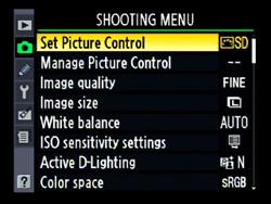White Balance Menu on Nikon D90