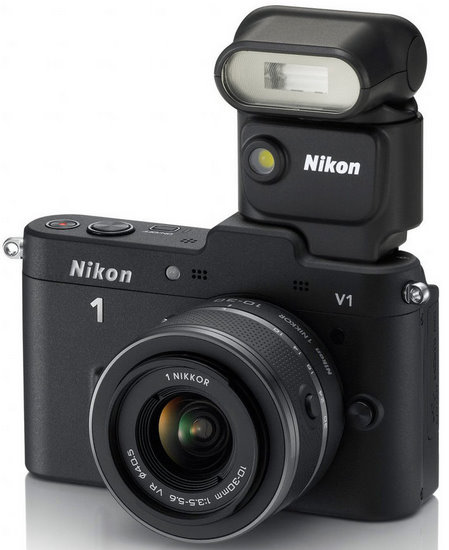 Nikon V1 with Flash