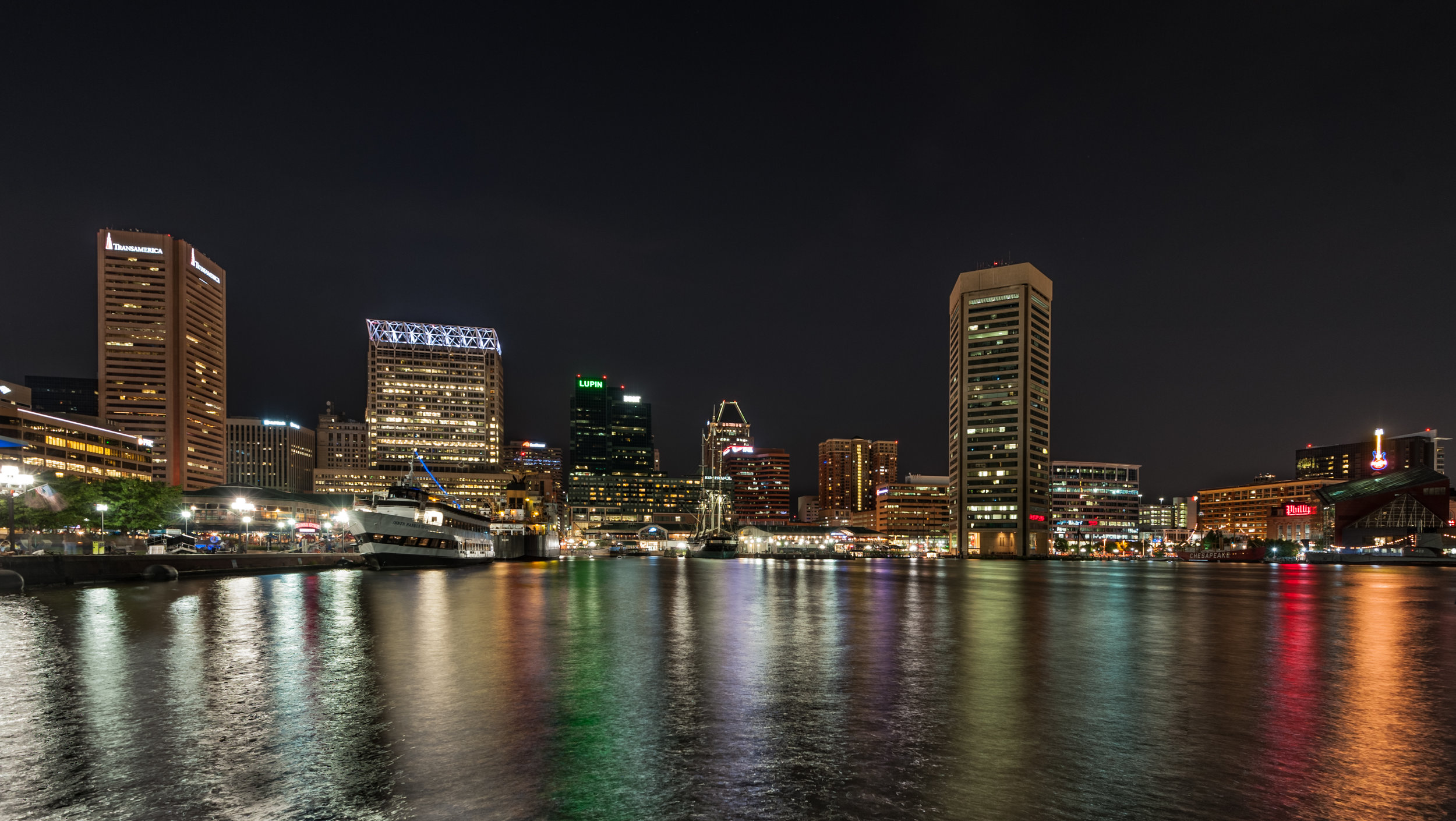 Baltimore during darker hour (click the image to view full size)