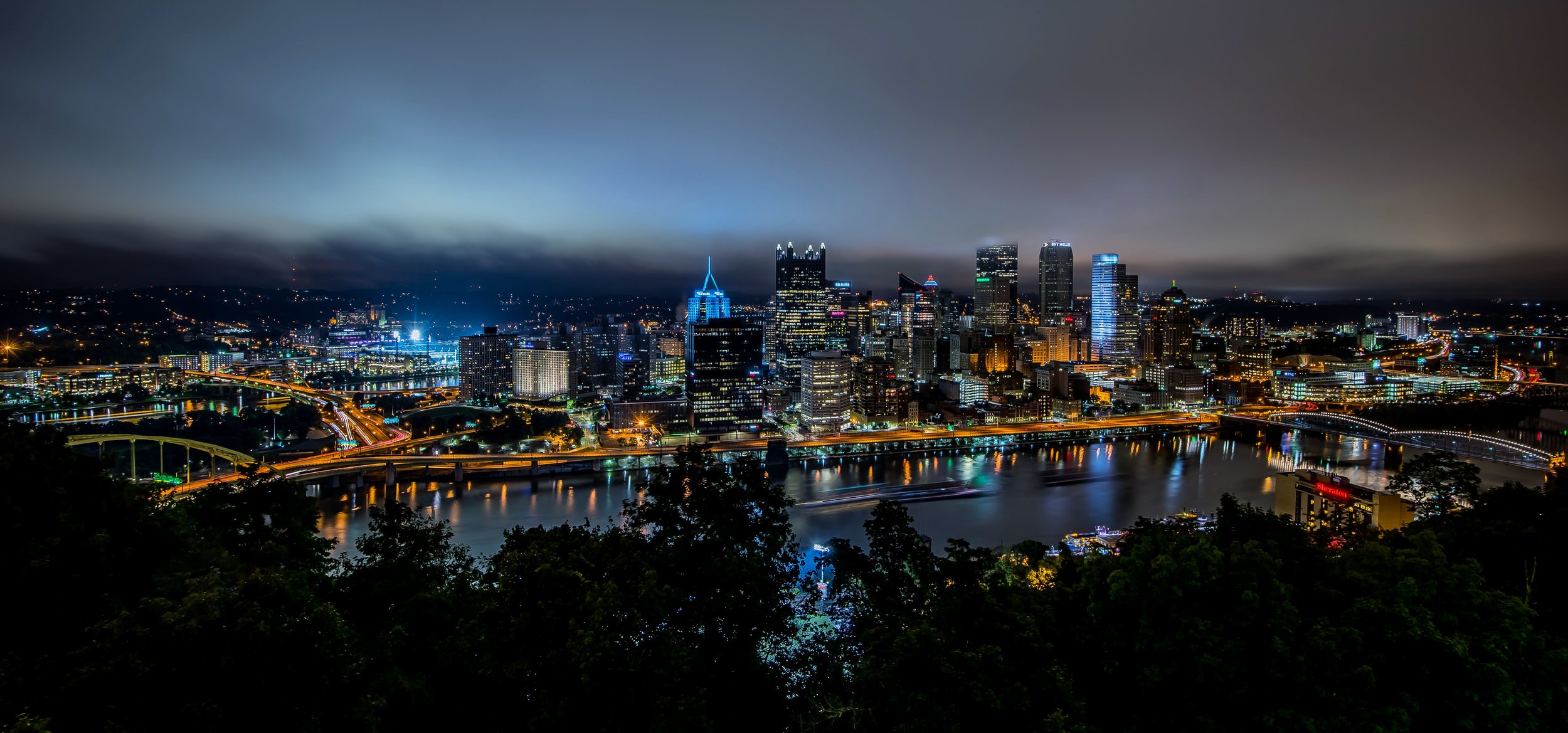 Pittsburgh Downtown from Grandview Ave (click the image to view full size)