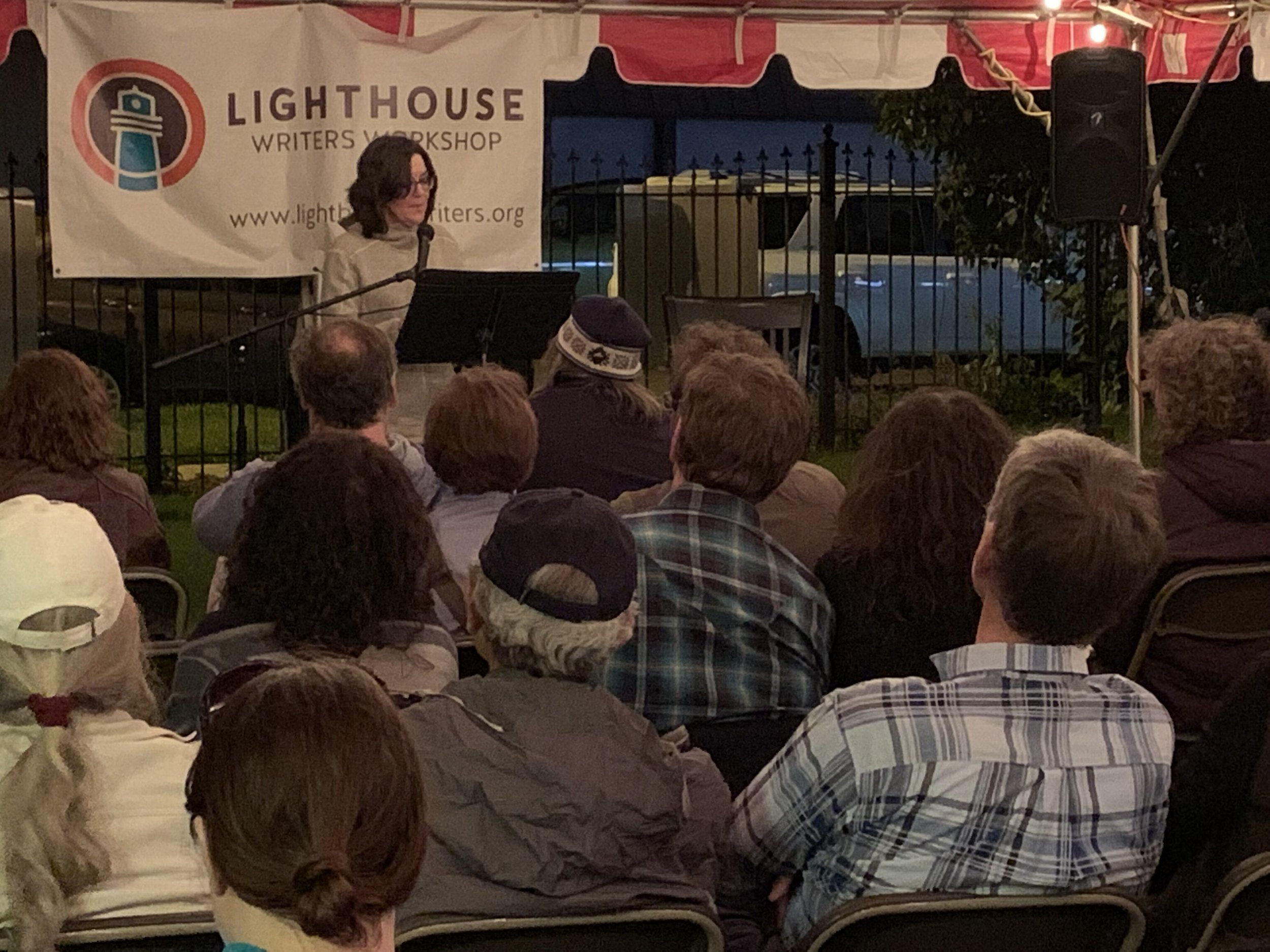 6/11 Reading at Lighthouse Writers Workshop Lit Fest. Under the tent!