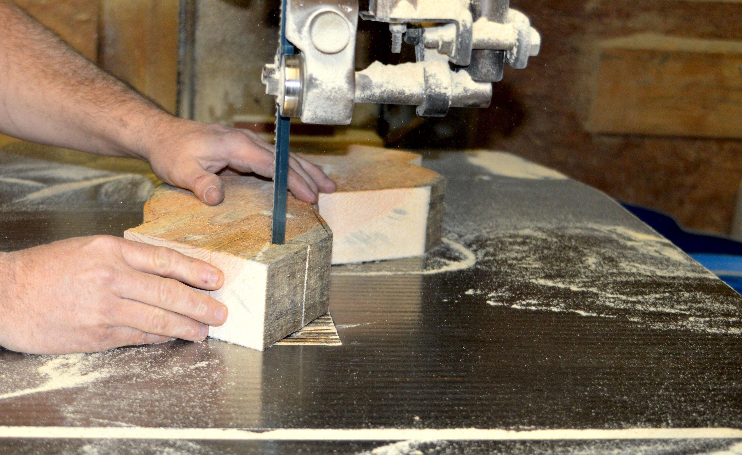 1.pre triming wood block for saw.jpg
