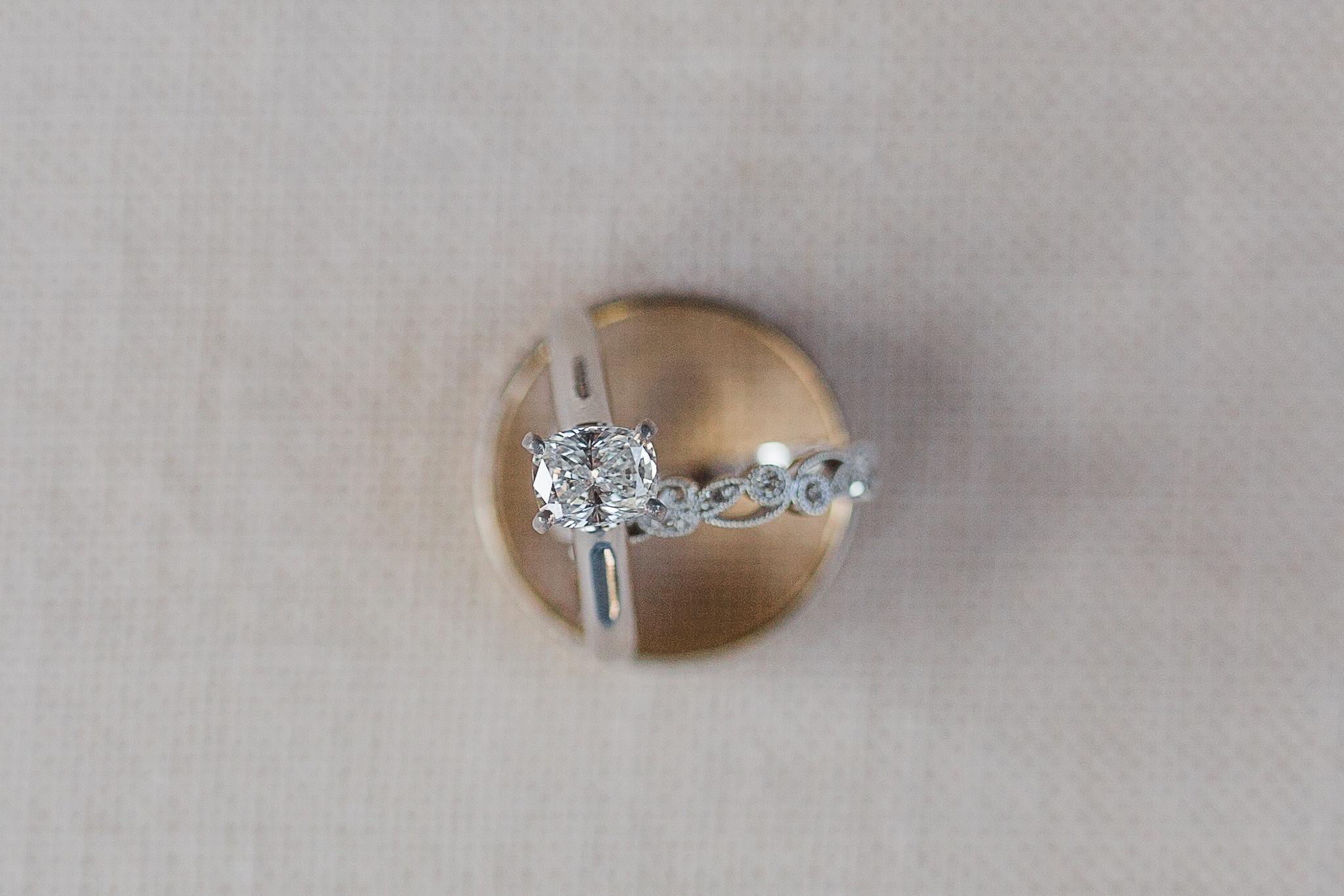 detail shot of wedding rings