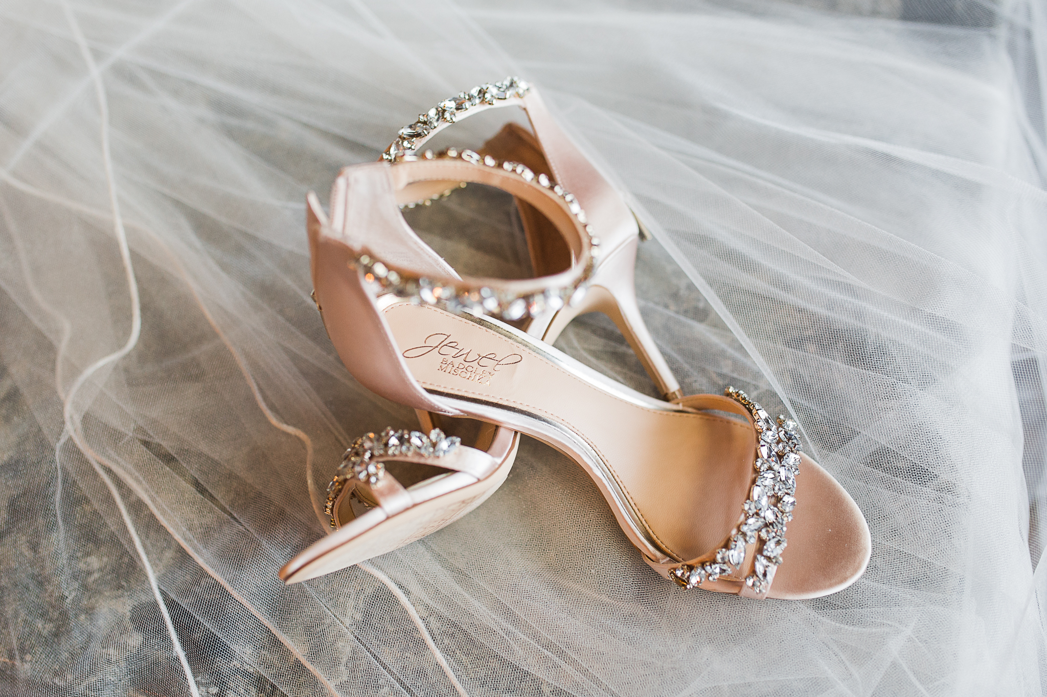 detail shot of brides heels