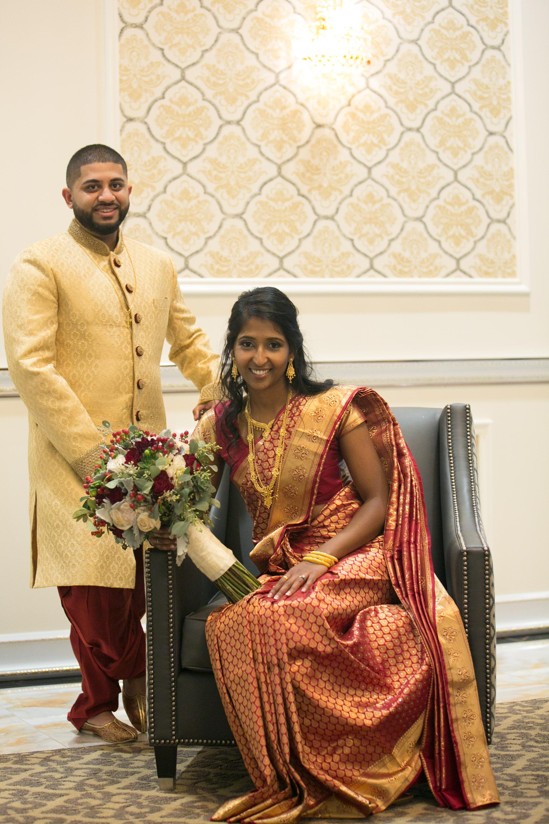 Indian wedding indoor posing