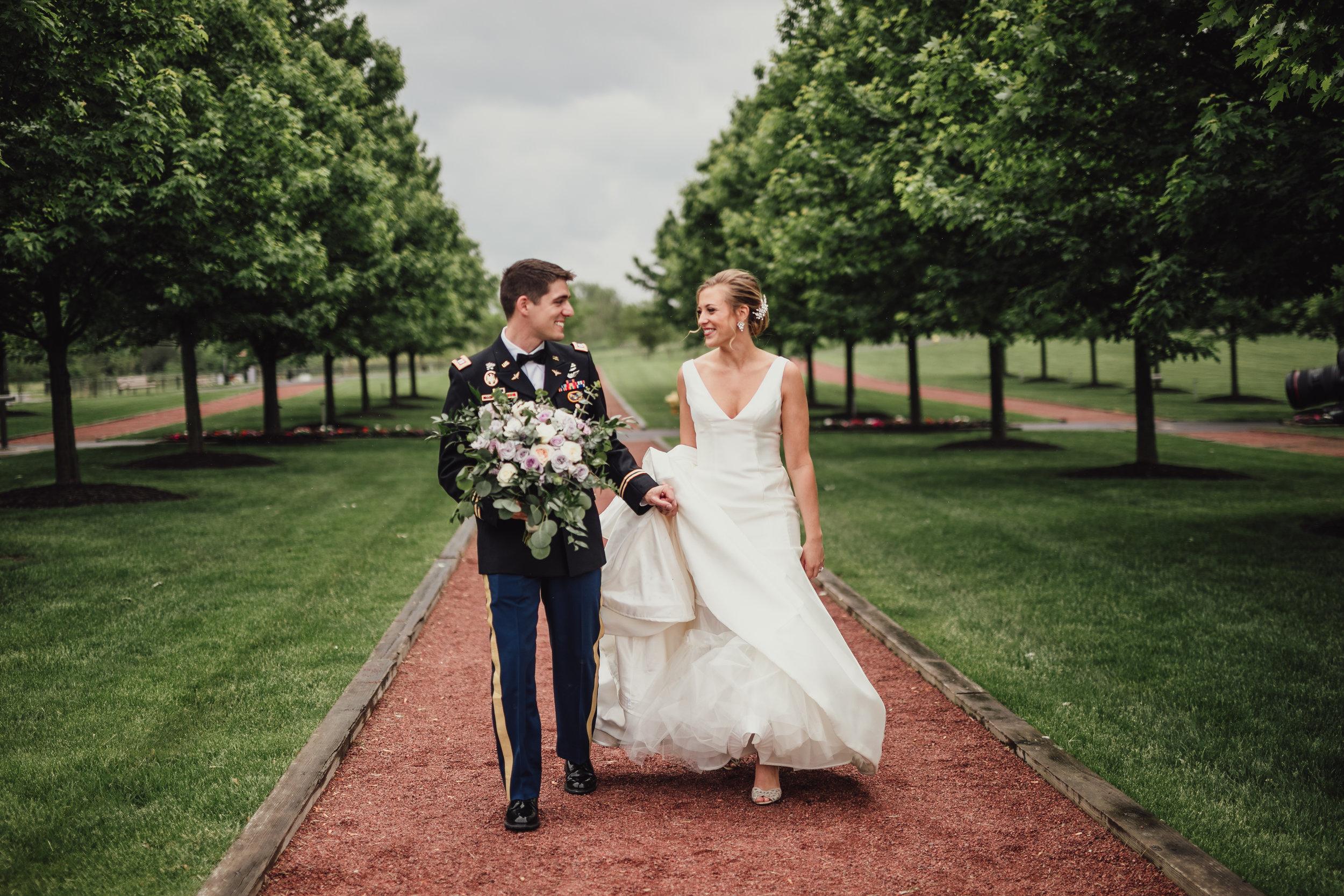 Centennial-Park-Munster-indiana-bride-and-groom-Lauren-ashley-studios-walking.jpg