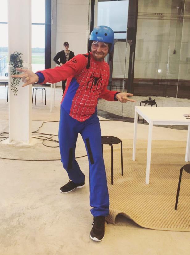 Rasmus som Spider-man, never forget.