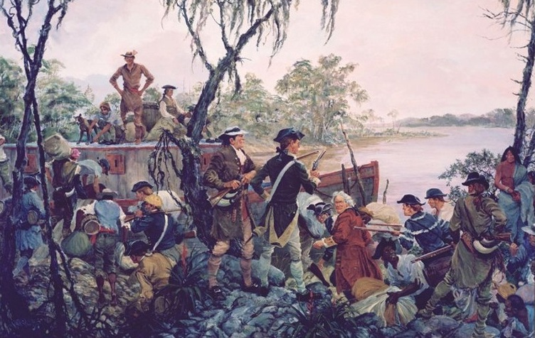 Willing's Marine Expedition, February 1778. (Image Credit: Marines and Others: The Paintings of Colonel Charles Waterhouse USMCR (Ret))