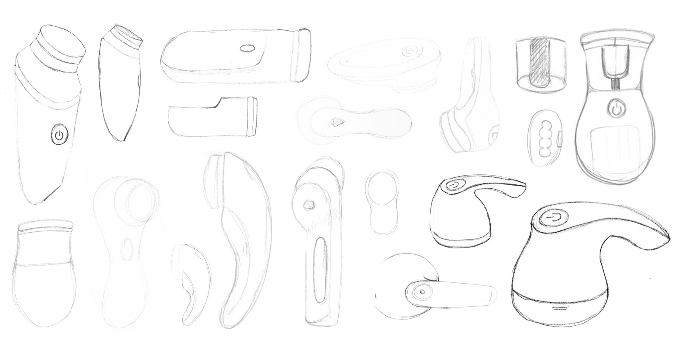 Preliminary sketches of potential designs.