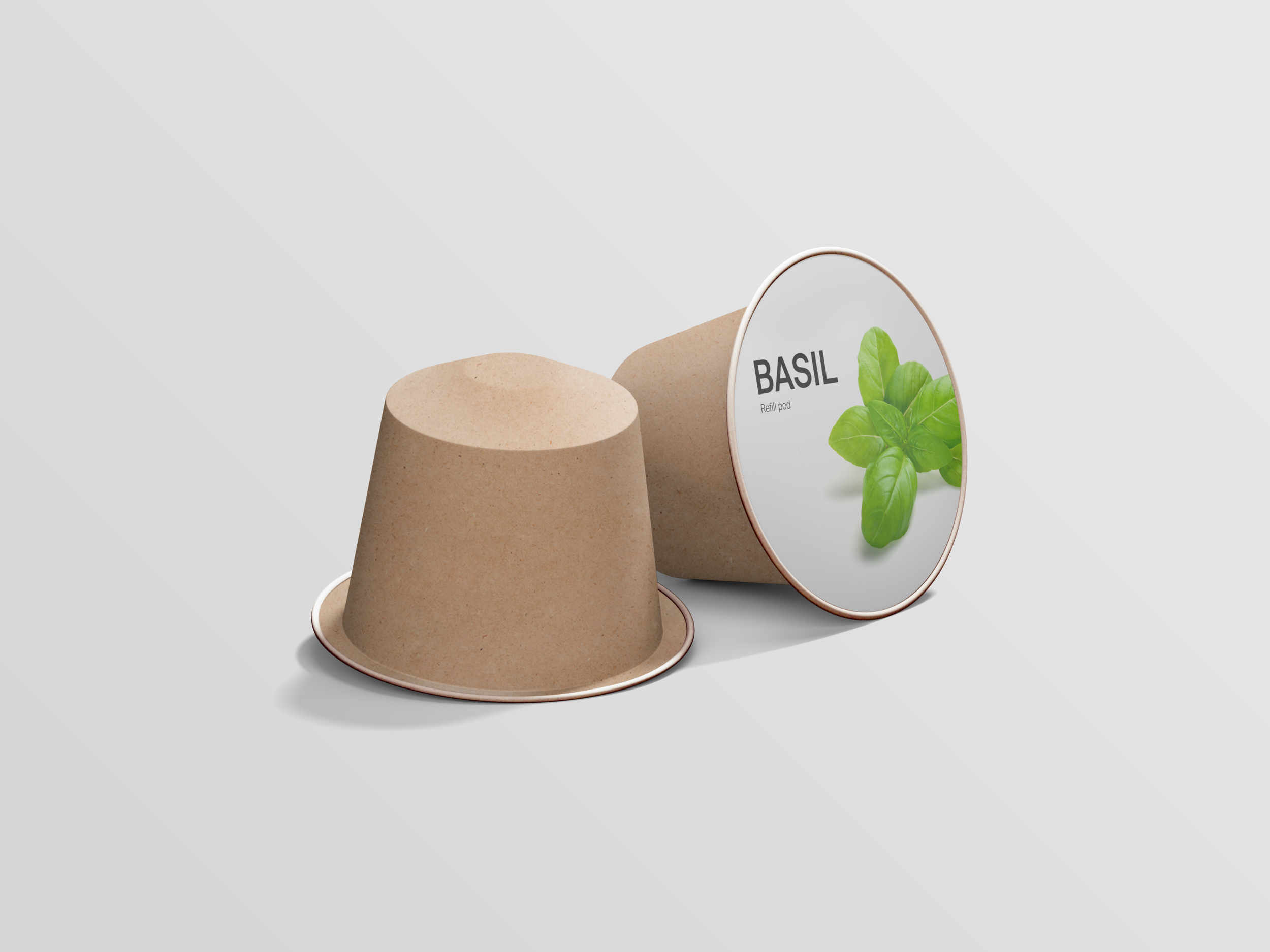 All plants do not have the same harvesting time, therefore compostable refill pods are available.