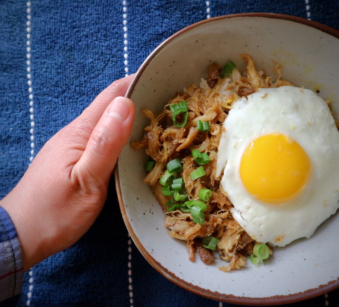 Adobo Flake Rice Bowl -