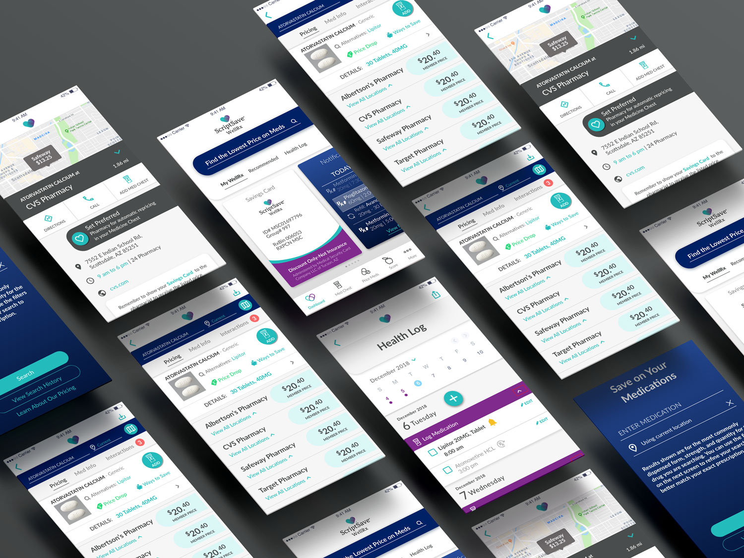 WellRX Mobile App Design - ScriptSave 2019 | Xamarin Mobile App - Product DesignLead UX, Ideation & product design. Discovery + 4 releases.