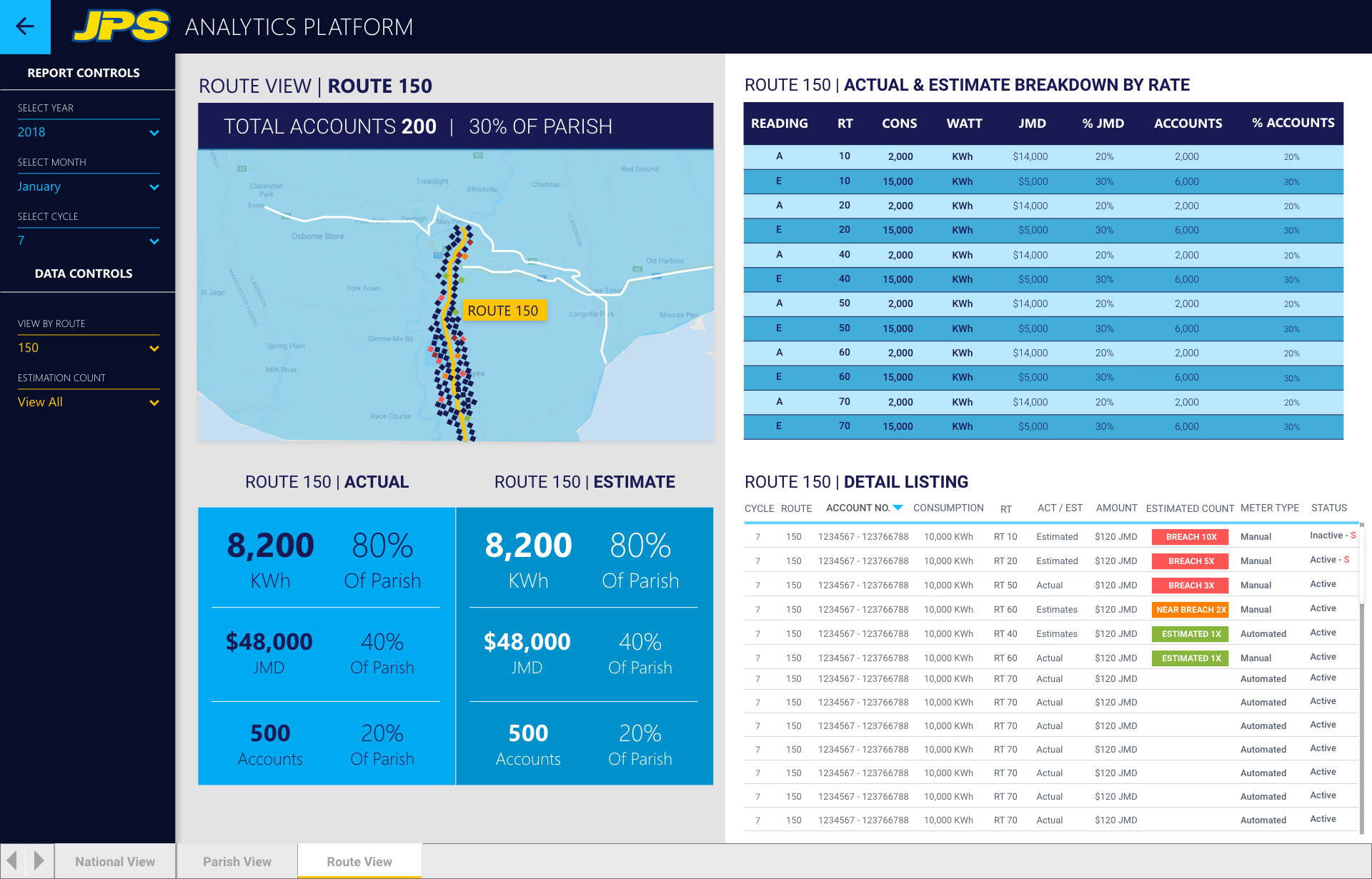 Billing and Estimates   ROUTE VIEW