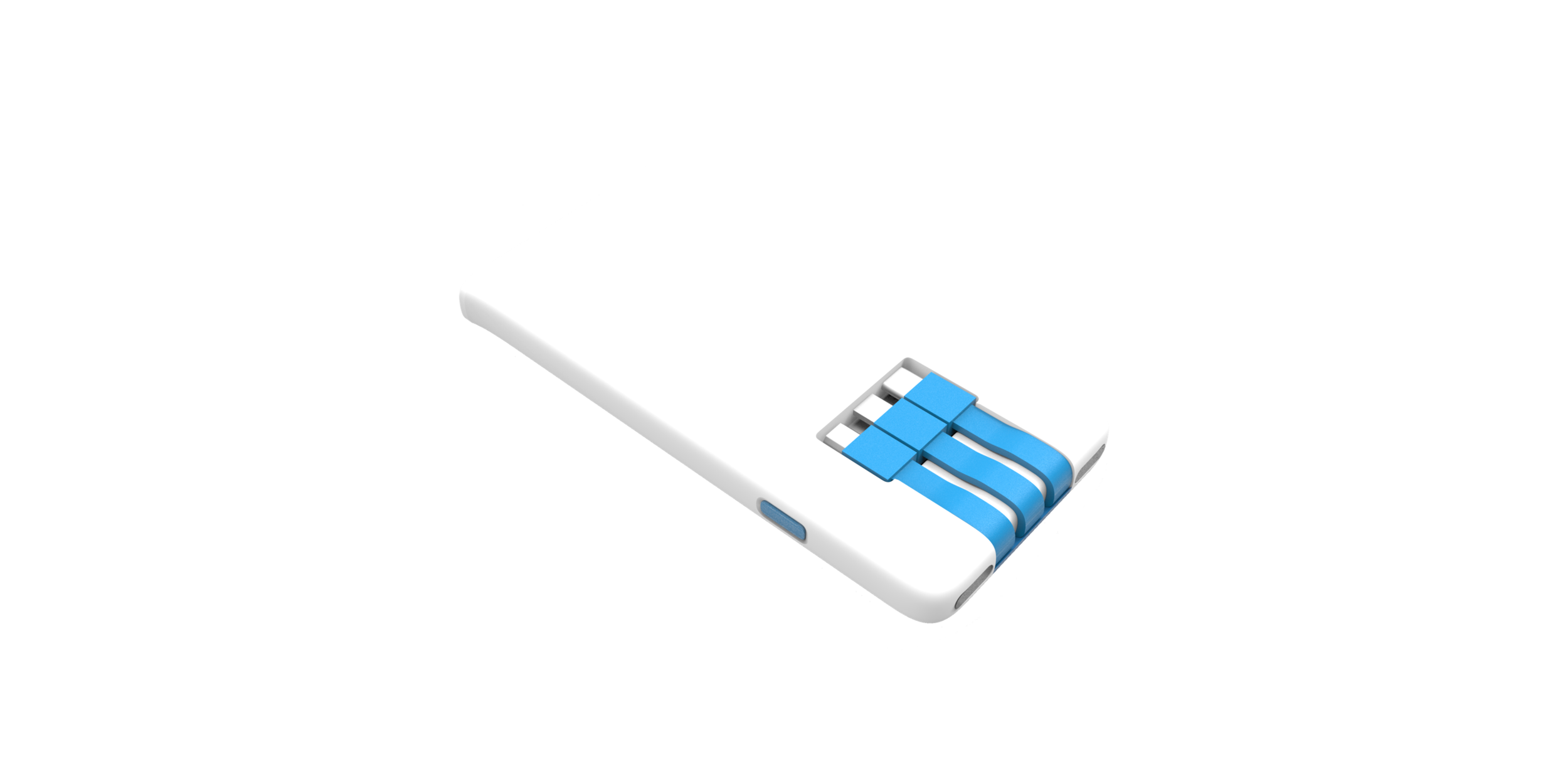Low on Battery? - Introducing the Juixbox - an on-demand power bank featuring a Micro-USB, USB-C, and Lightning connector, designed to charge any smartphone or mobile accessory.