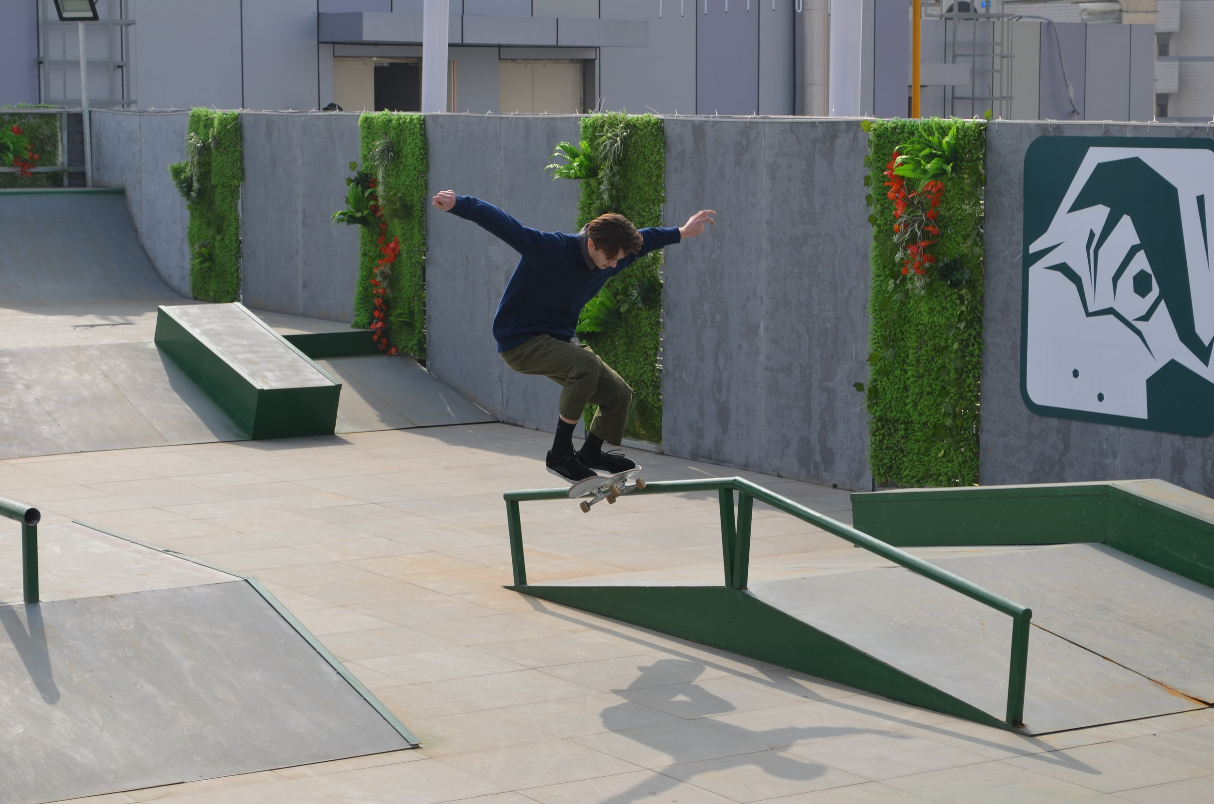 ROOFTOP SKATEPARK IN GULOU DISTRICT, NANJING ROSS OULLETTE