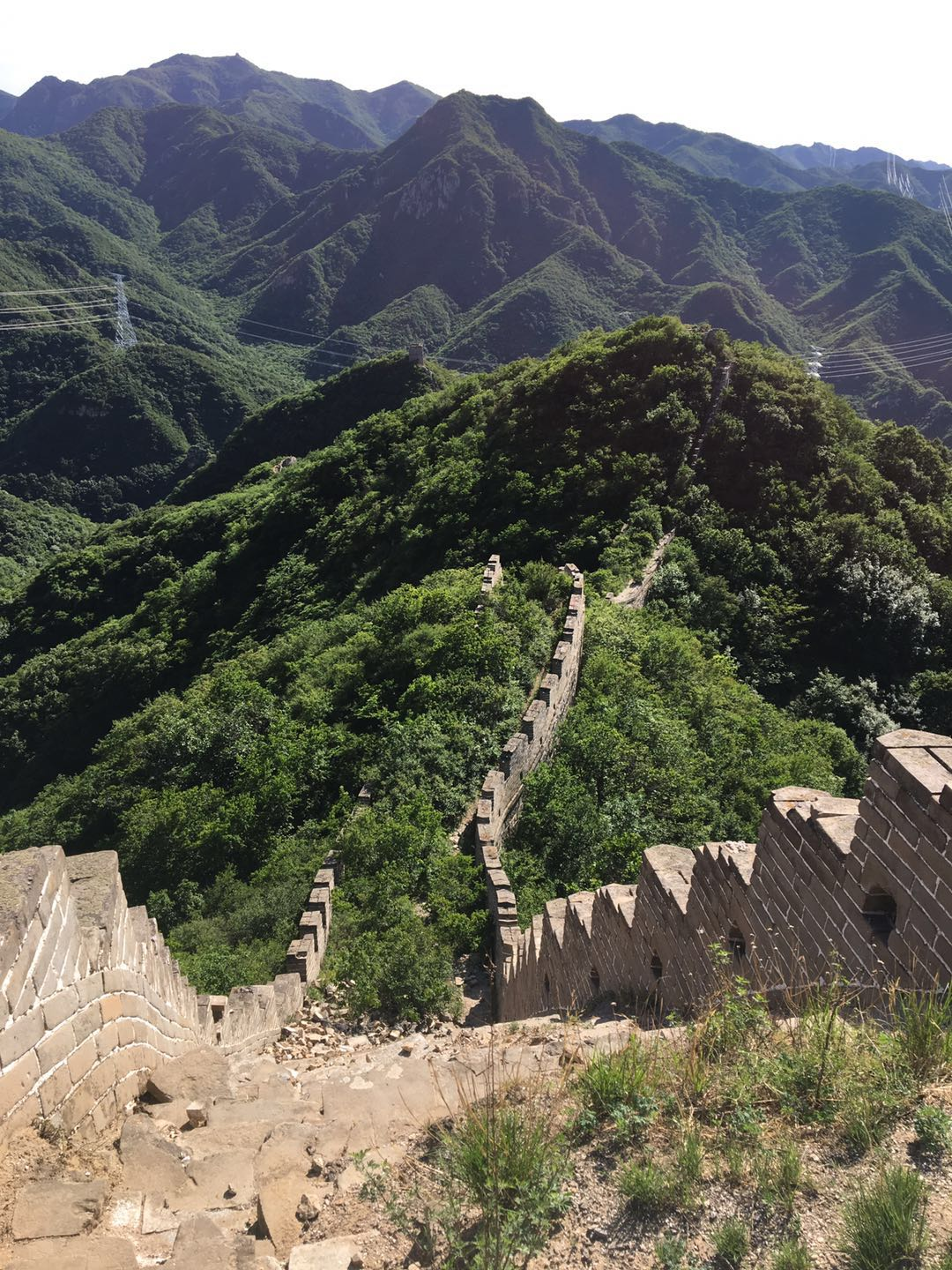 Nature begins to take over the Great Wall