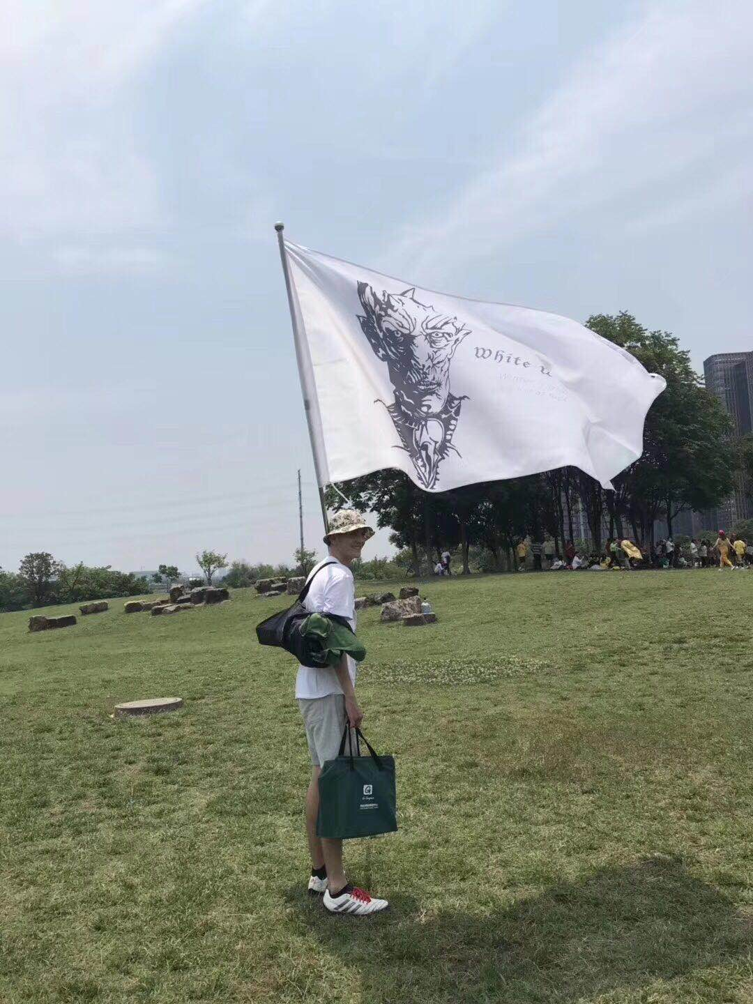 "The white team's flag. ""White Walkers"""
