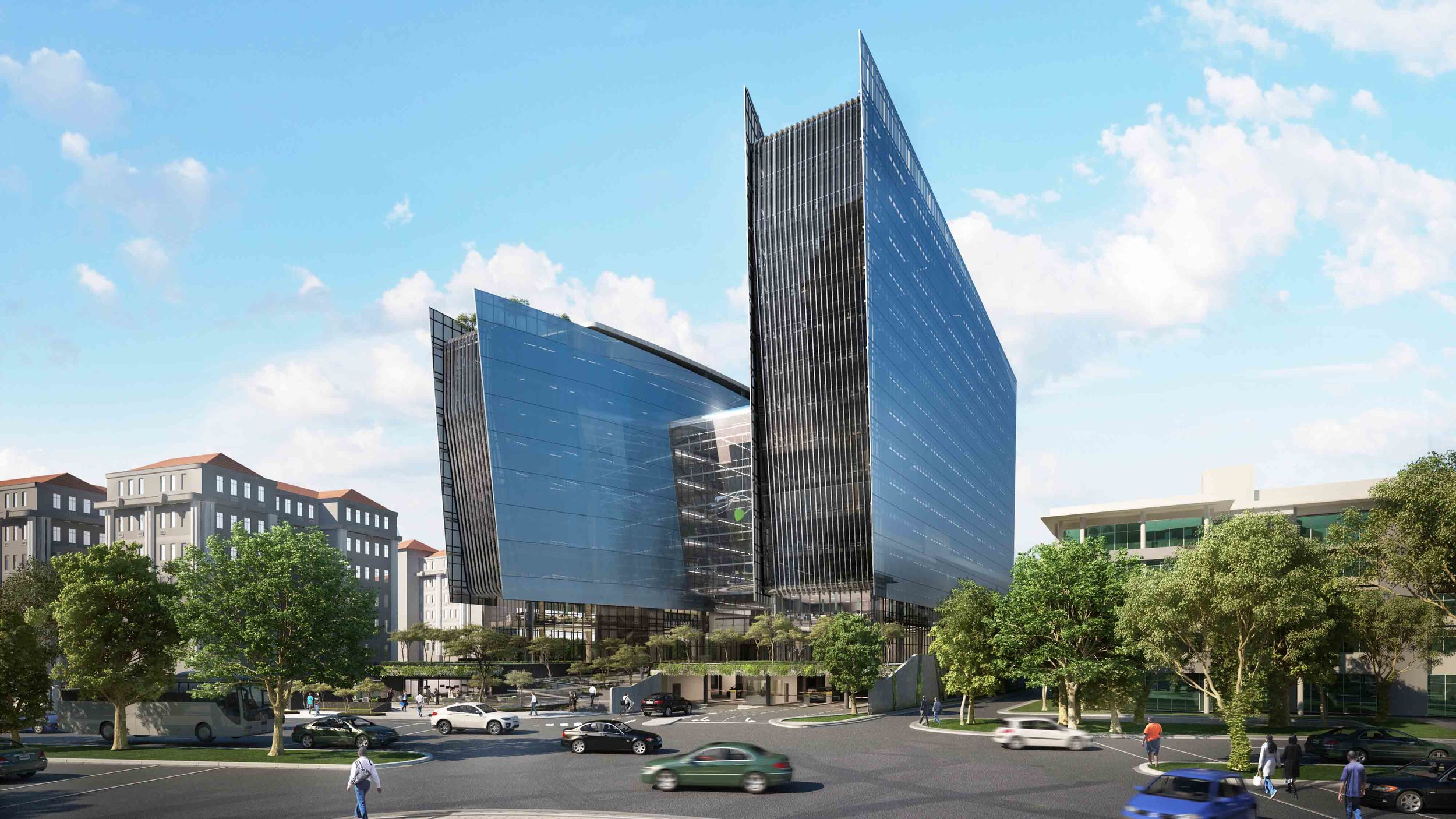 140 West Street |  2018 SAPOA Award Winner  Location: Sandton, Johannesburg South Africa  Service: Structural | Type: 14 Storey Office Block  Project Cost: R 200 000 000.00