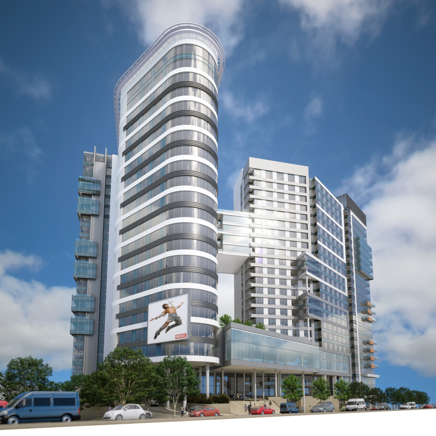 Asciopolis - Location: Sandton, Johannesburg South AfricaType: 21 Storey Mixed UseService: Civil and StructuralProject Cost: R 300 000 000.00