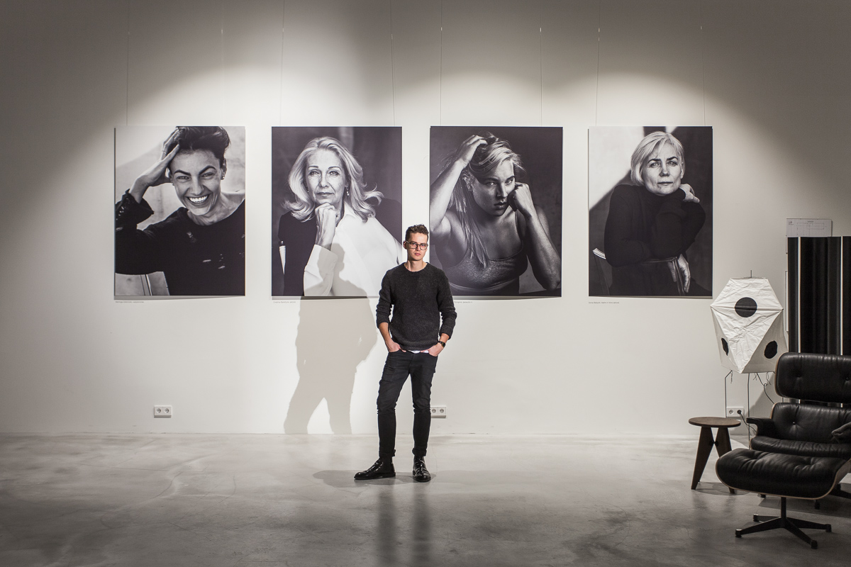 150 x 110 cm size pictures were printed on Diabond material and exhibited at Xcelsior Vilnius contemporary design gallery.     Interior photos by  Simas Linkevičius .