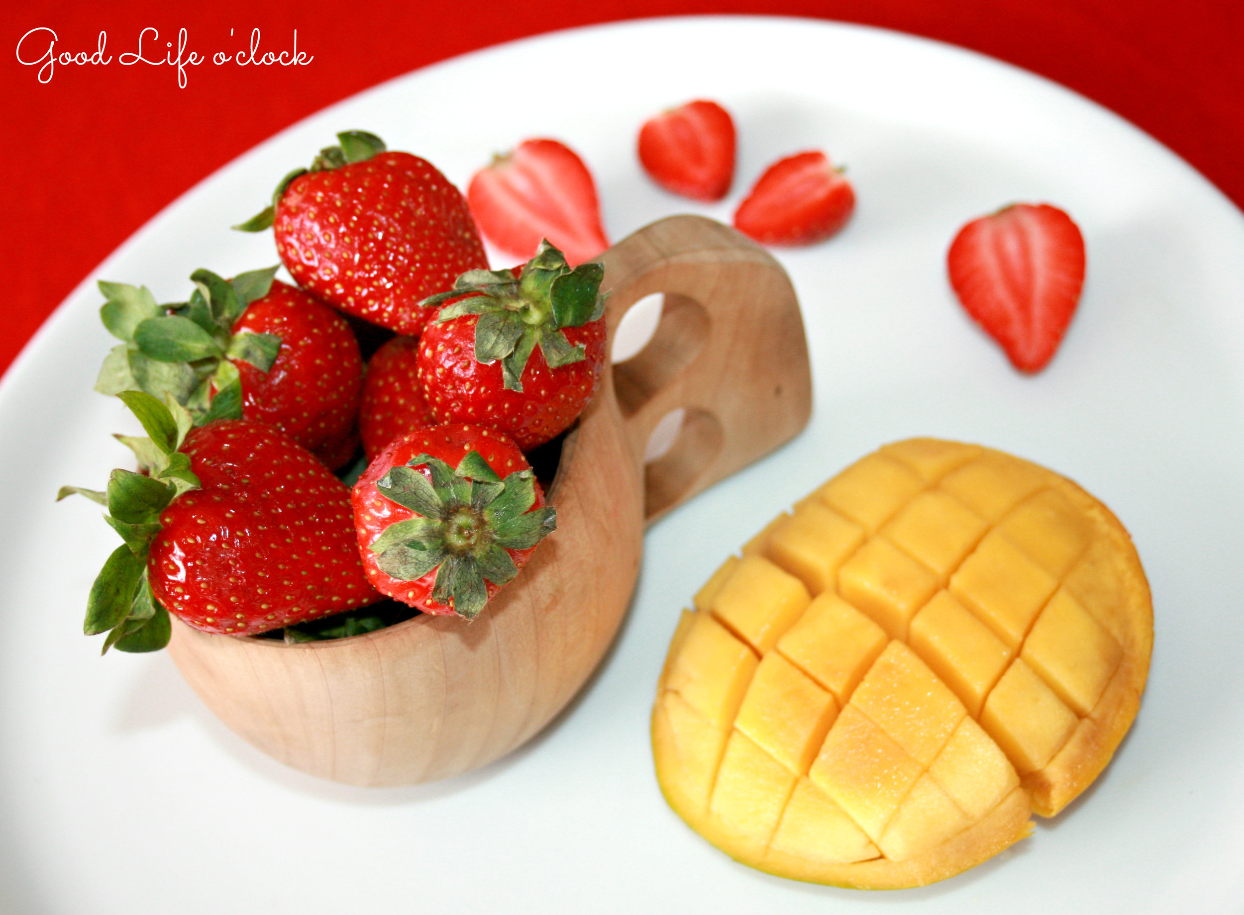 Mango and Strawberry