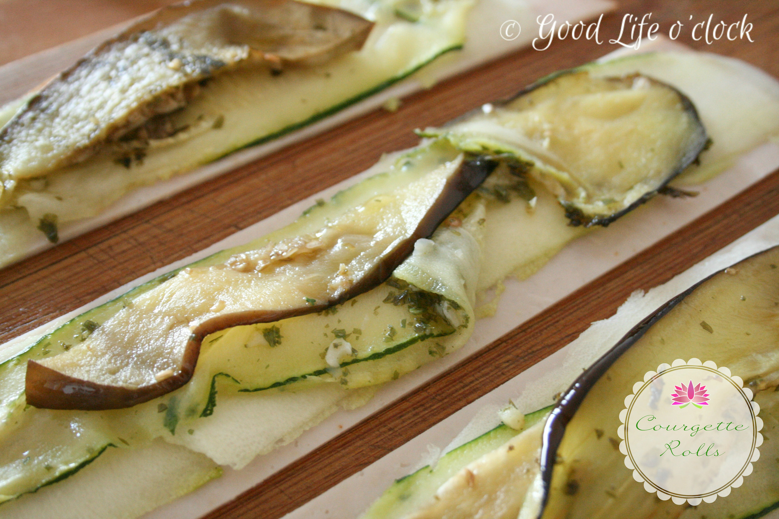 Courgette rolls 3