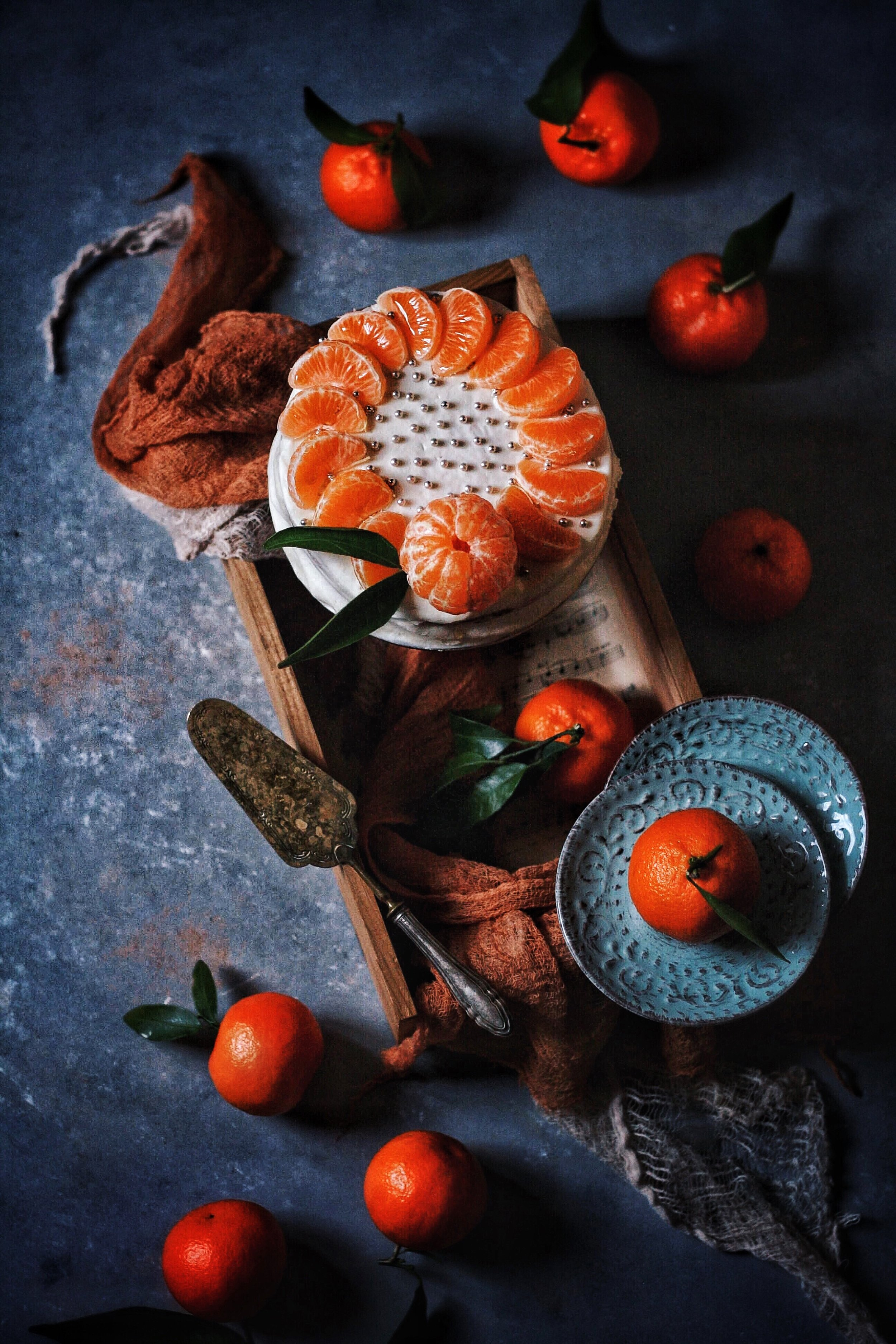 Clementine cake food Styling