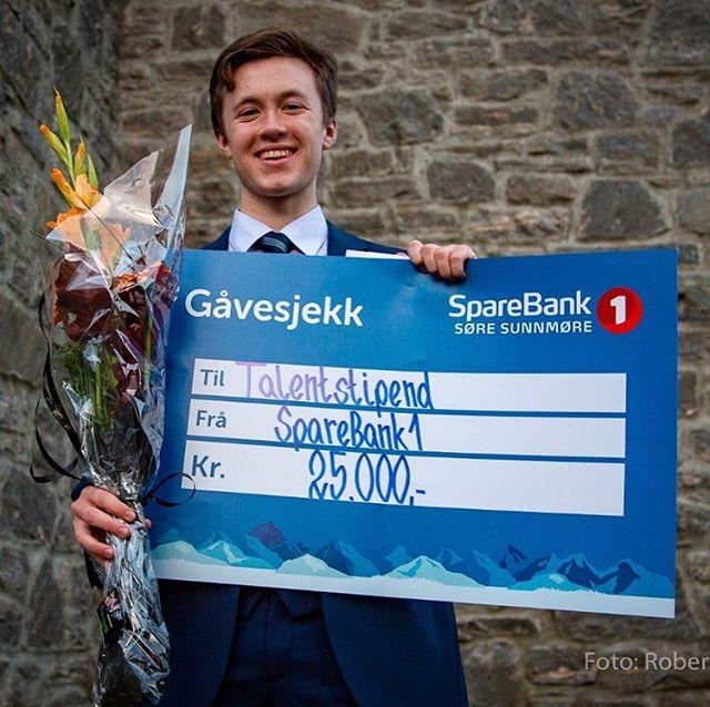 Gratulerer til Åsmund Arnesen Farstad, vinnar av talentstipendet 2019! 📷Robert Skeide